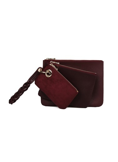 Beverly Hills Polo Club Clutch / El Çantası Bordo